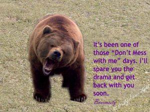 Bear growling