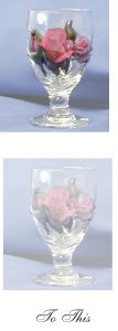 Placing Flowers in Wine Glass