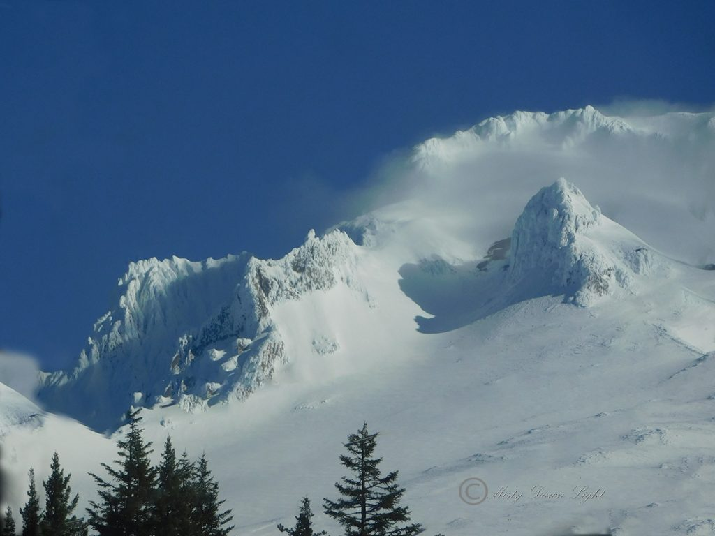 Beautiful snowy peak